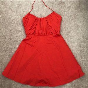 ZARA red mini halter top dress